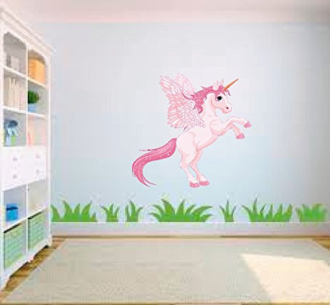 Flying Unicorn Wall Sticker Pink