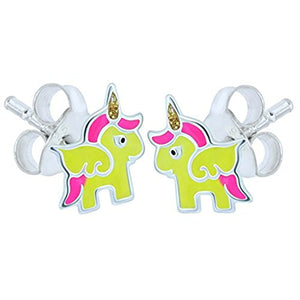 earrings unicorn yellow