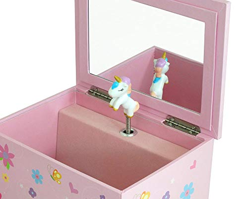 Cute Pink Unicorn Jewellery Box | Musical
