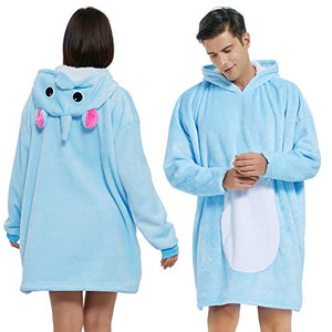 Unicorn Hoodie Blanket For Adults | Women, Men | Oversized Snuggle Hooded Big Blankets