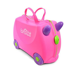 Trunki Children's Ride-On Suitcase & Kid's Hand Luggage: Trixie (Pink) Unicorn