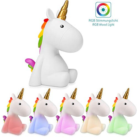 Colour Changing Unicorn Rechargeable Night Light Kids