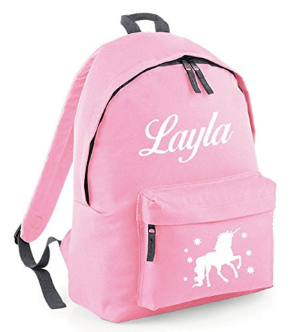 Unicorn Backpack Personalised Pink For Girls
