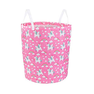 Unicorn Toy Organiser, Washing Laundry Bag Pink