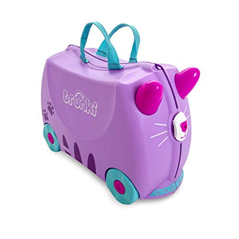 Trunki Children's Ride-On Suitcase & Hand Luggage: Cassie Cat (Lilac)