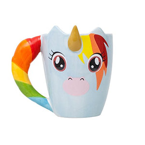 Thumbs Up Unicorn Mug, Multi-Colour