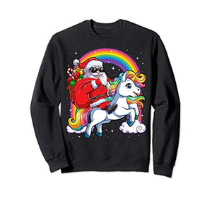 Unicorn X-Mas Jumper | Christmas Sweatshirt | Multicoloured Rainbow