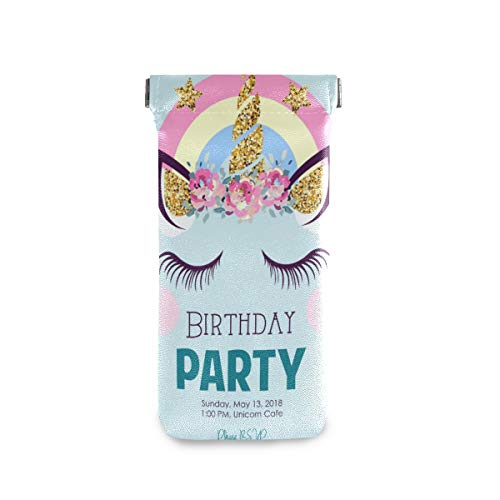 Birthday Unicorn Sunglasses Pouch Unique Squeeze