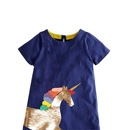 Sequined Unicorn Dress Navy