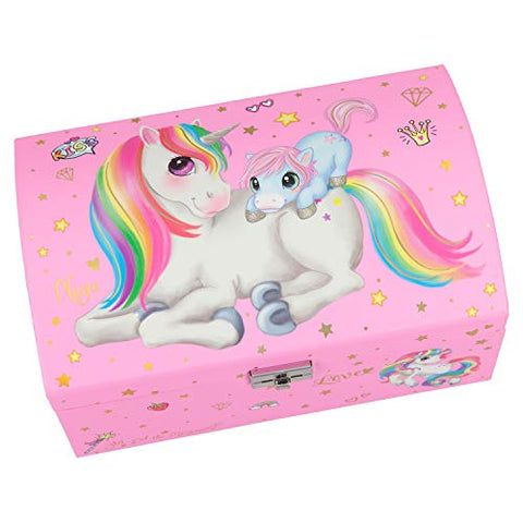 Mummy and Baby Unicorn Pink Jewellery Box for Children