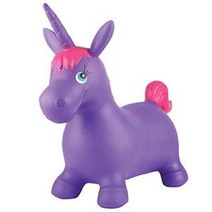 Kids' Bouncy Unicorn Hopper Inflatable Bouncer Toy Bouncing Animal Ride-On Toys