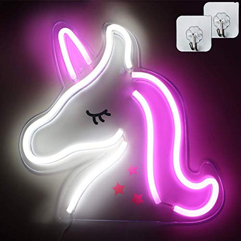 Unicorn Neon LED Mood Light Pink White