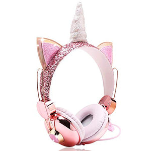 Unicorn Kids Headphones For Girls, Children | Sparkly Unicorn Headband