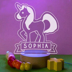 Personalised Unicorn Mood Decorative Light