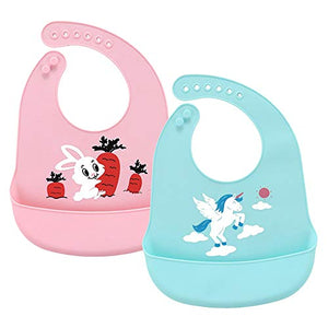 Unicorn Silicone Food Catcher Bib