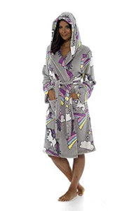 Matching Mum & Daughter Unicorn Print Dressing Gown - Multicoloured