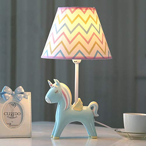 Cute Unicorn Children's Bedside Light | Lamp | Blue