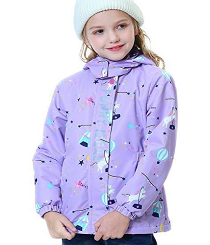 Girls Unicorn Raincoat Waterproof Jacket