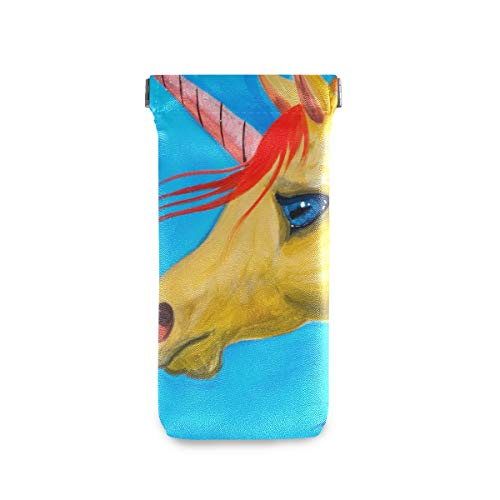 Unique Watercolor Unicorn Squeeze Top Sunglasses Pouch