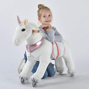 Ride on unicorn pony for 3-6 year old
