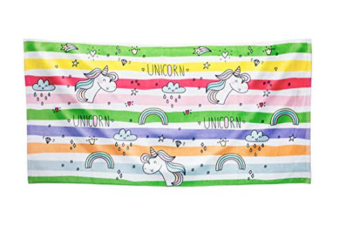 Kid's Beach Towel | Unicorn Rainbow | Ultra Soft | Large 75 x 150 CM Cotton