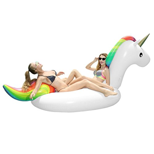 large unicorn inflatable for swimming pool