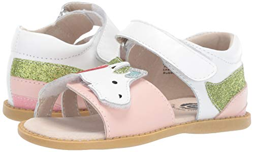 Girls toddlers white gold pink sandal