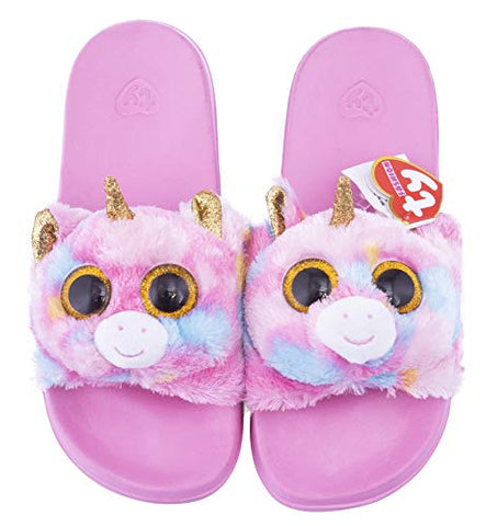 Ty TY95461 Beanie Boo Flip Flops - Fantasia The Unicorn - Pool Slides - Pink
