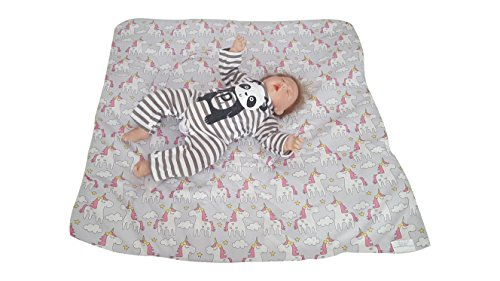 Unicorn Grey Swaddle Blanket