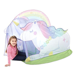Unicorn pop up play house tent