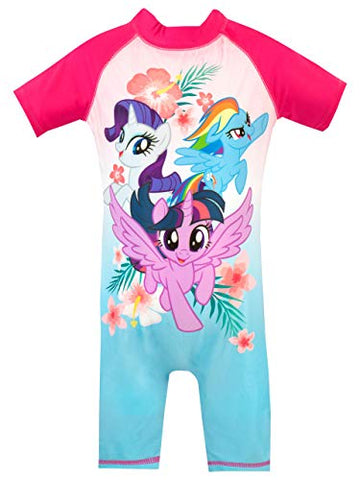 My Little Pony Girls Twilight Sparkle Rainbow Dash Rarity Swimsuit Pink Unicorn