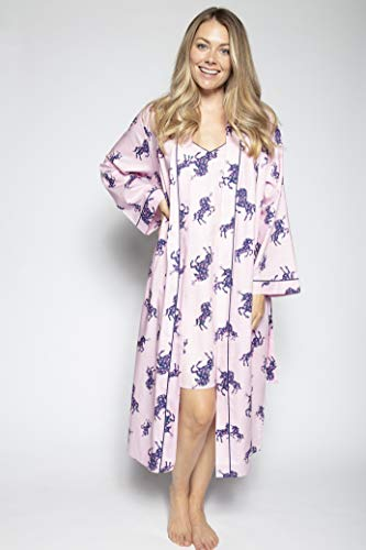 Ladies Floral Unicorn Dressing Gown For Women
