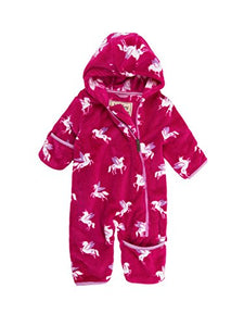 Hatley Baby Girl's Fleece Snowsuit | Winged Unicorns |18-24 Months