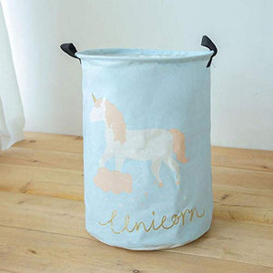 Baby Blue Unicorn Storage Bag