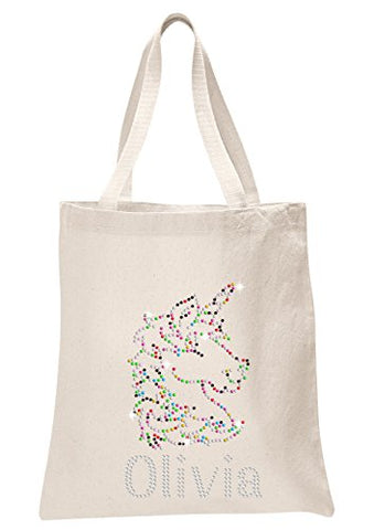 Personalised Unicorn Crystal Tote Bag - Varsany
