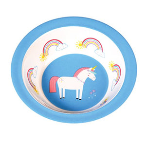 unicorn rainbow and cloud baby bowl
