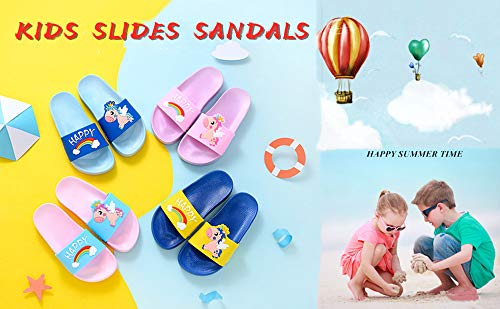 Happy Unicorn Unisex Boys Girls Sliders- Kids Outdoor Beach Pool