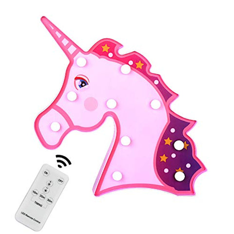 Pink Unicorn Head Mood Light