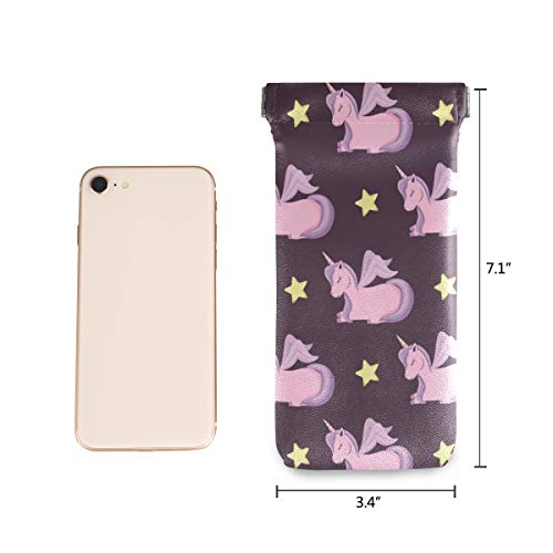 Cute Pink Unicorns Sunglasses Pouch Cases