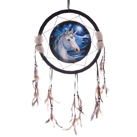 unicorn dream catcher blue