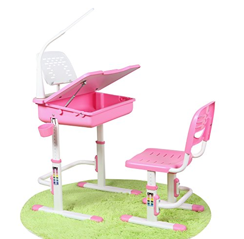 Kids Pink Desk & Chair