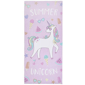 Catherine Lansfield Summer Unicorn Beach Towel Multi 76x160cm