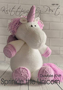 Sprinkle The Unicorn | Knitting Patter | Soft Toy | Knitting By Post