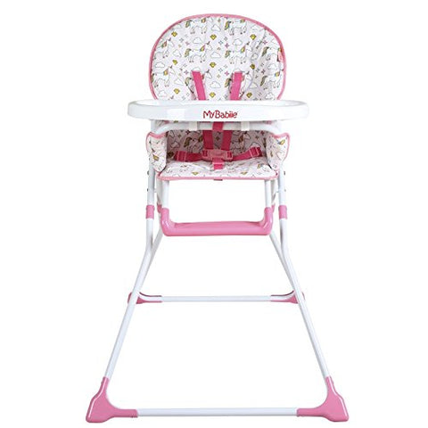 My Babiie Baby unicorn themed rainbow highchair high chair adjustable folds down