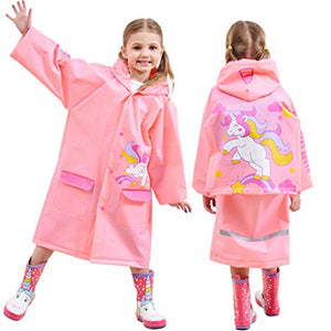 Pink Unicorn Waterproof Raincoat Jacket