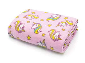 Rainbow Unicorn Throw | Blanket | Pink | Multicoloured | 127cm x 152cm | Kids