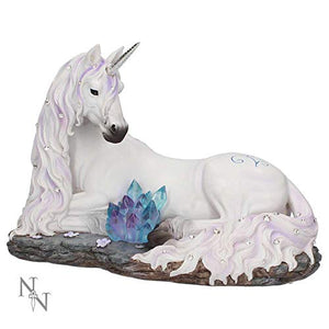 Jewelled Tranquillity Unicorn Figurine | 19cm | White | Resin | Ornament