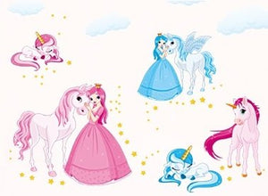 unicorn princess wall stickers