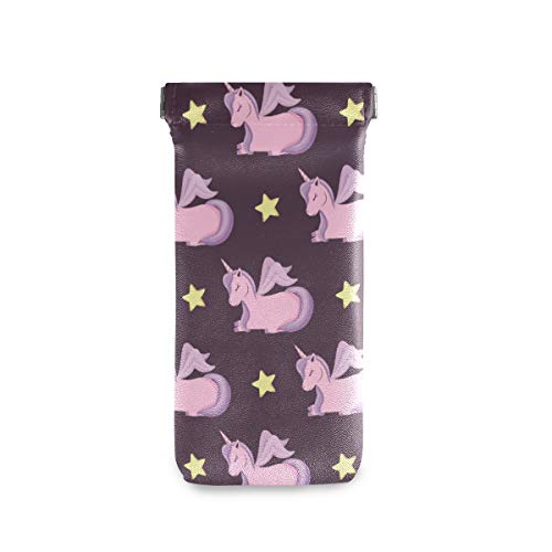 Purple unicorn sun glasses case