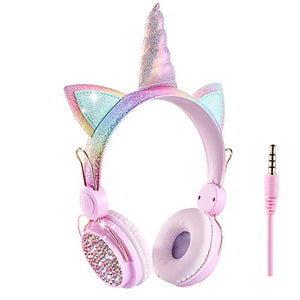 Kids Headphones Unicorn Style | Sparkly Rainbow